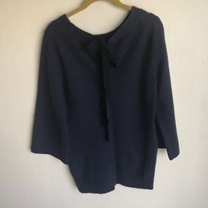 Gap Tie Front Black Sweater Acrylic Blend Size M